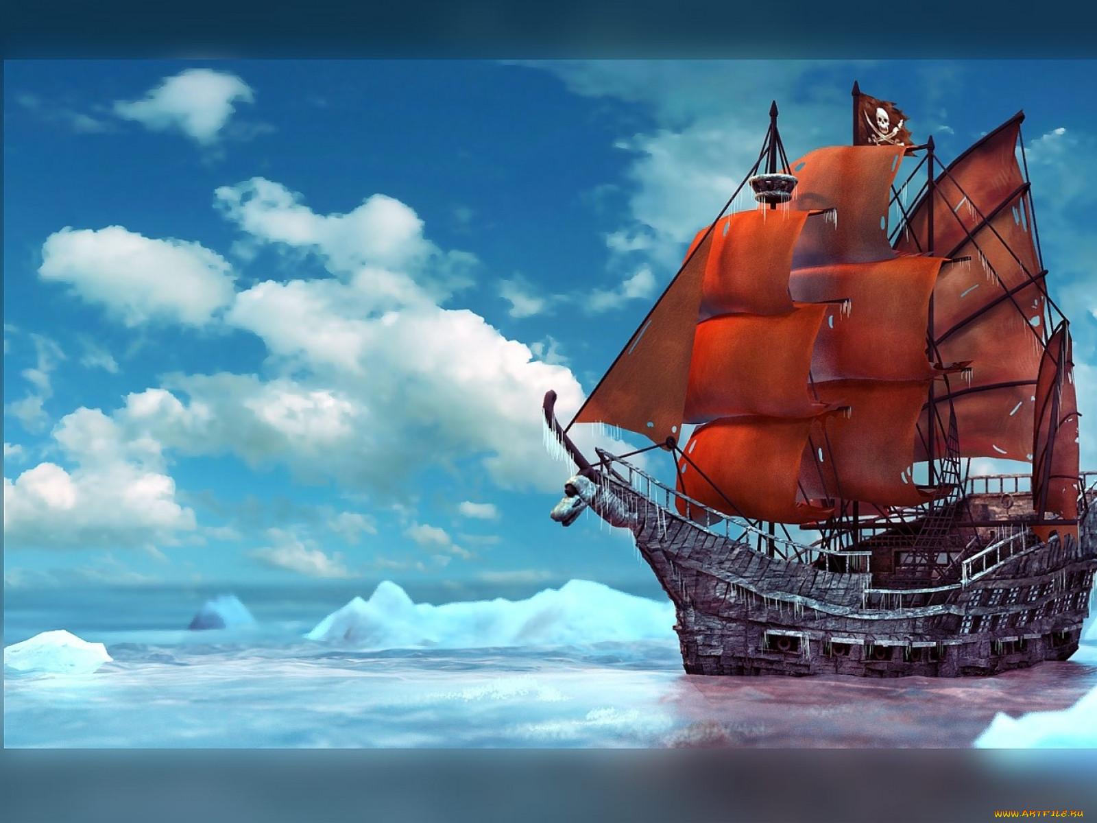 Pirate корабли 3d паруса парусник пират